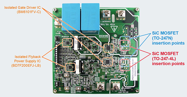 SiC MOSFET Evaluation Board - P02SCT3040KR-EVK-001