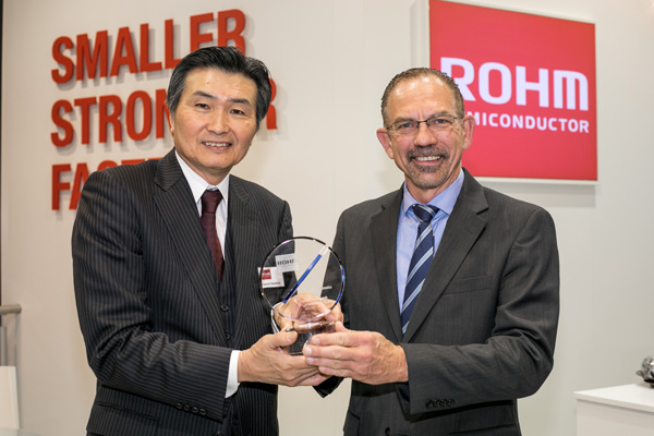 ROHM Semiconductor awards Mouser Electronics
