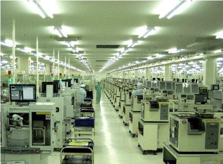 Semiconductor assembly line after resuming operation