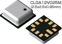 CLGA12V025M (2.5x2.5x0.95) top and bottom images