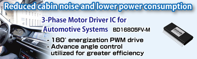 3-Phase Motor Driver IC for Automotive Systems BD16805FV-M