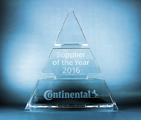 Continental awards ROHM Semiconductor  Supplier of the Year 2016