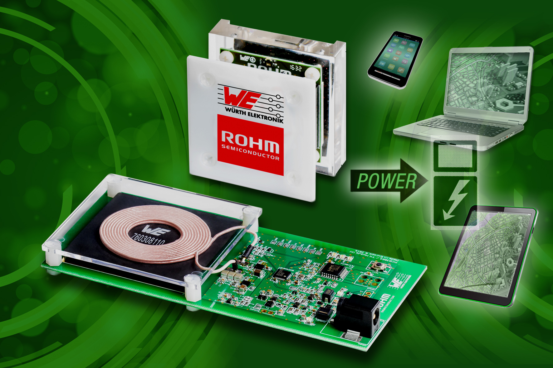 ROHM Semiconductor to present new medium power design kit for wireless charging